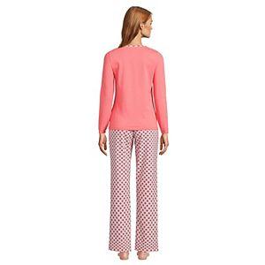 Women's Lands' End Knit Pajama Top & Pajama Pants Set