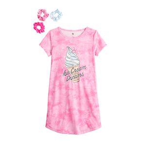 Girls 4-18 SO® Curved Hem Nightgown in Regular & Plus Size