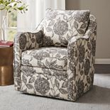 Madison Park Betty Wide Seat Swivel Arm Chair
