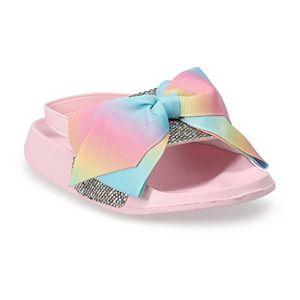 JoJo Siwa Glitter Bow Toddler Girls' Slide Sandals