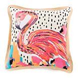 Terrasol Let's Flamingo Indoor Outdoor Throw Pillow