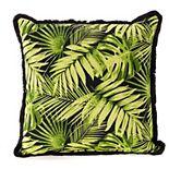Terrasol Tropica Ebony Indoor Outdoor Throw Pillow
