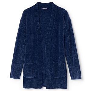 Girls 4-7 Lands' End Chenille Open Front Cardigan Sweater