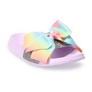 JoJo Siwa Glitter Bow Girls' Slide Sandals
