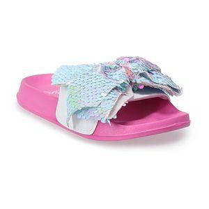 JoJo Siwa Reverse Sequin Bow Girls' Slide Sandals