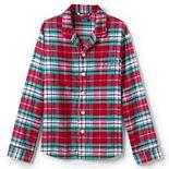 Men's Lands' End Flannel Pajama Shirt