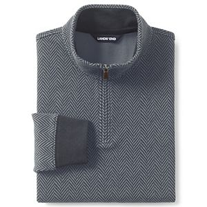 Big & Tall Lands' End Tailored-Fit Bedford Rib Quarter-Zip Sweater