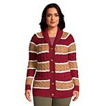 Plus Size Lands' End Drifter Cable-Knit Shawl Cardigan Sweater