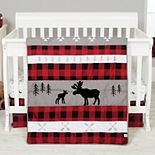 Trend Lab Lumberjack Moose 6 Piece Crib Bedding Set