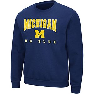 Men's Colosseum Michigan Wolverines Volume Sweatshirt