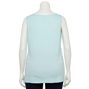Plus Size Croft & Barrow® Scallop-Trim Tank