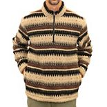 Men's Mountain and Isles Patterned Sherpa Fleece Quarter-Zip Pullover