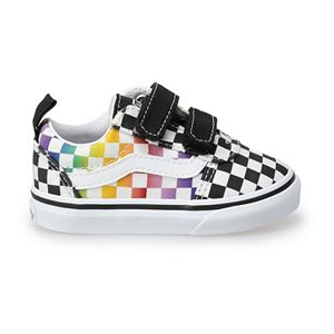 Vans® Ward V Kids' Rainbow Checkered Skate Shoes