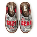 Men's Dearfoams Family Bear Scuff Slippers