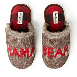 "Women's Dearfoams ""Mama Bear"" Faux Fur Scuff Slippers"