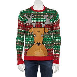 Men's Christmas Reindeer Beer-Pocket Sweater