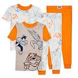 Toddler Boy Loony Tunes 4 Piece Pajama Set