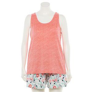 Plus Size Croft & Barrow® Lush Luxe Pajama Tank & Pajama Shorts Set
