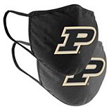 Adult Colosseum Purdue Boilermakers Face Covering 2-Pack