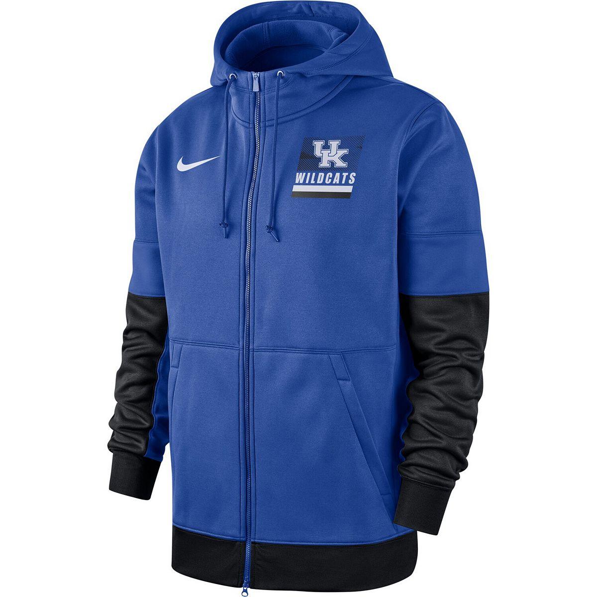 Men's Nike Royal Kentucky Wildcats Sideline Full-Zip Performance Hoodie UO6CK