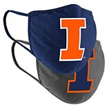 Adult Colosseum Illinois Fighting Illini Logo Face Covering 2-Pack