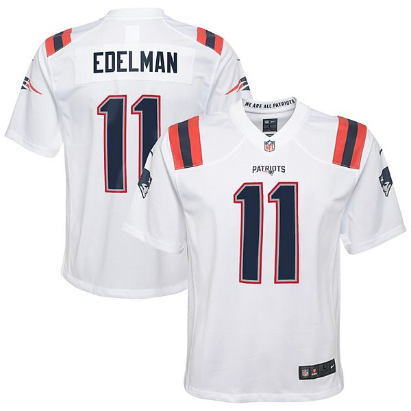 Youth Nike Julian Edelman White New England Patriots Game Jersey