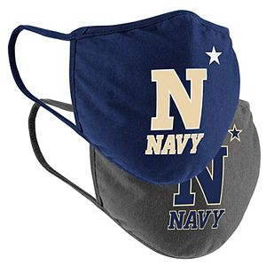 Adult Colosseum Navy Midshipmen Face Covering 2-Pack