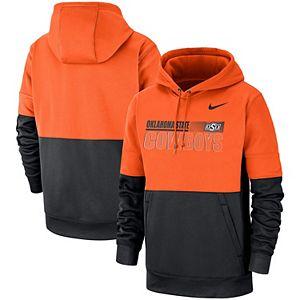 Men's Nike Orange/Black Oklahoma State Cowboys Sideline Performance Pullover Hoodie