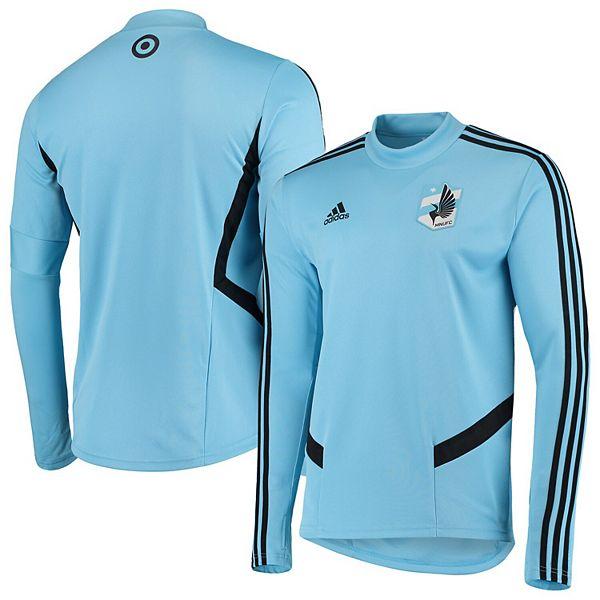 Men's adidas Light Blue Minnesota United FC 2019 Long Sleeve Training Jersey
