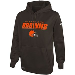 Men's New Era Brown Cleveland Browns Combine Stated Pullover Hoodie