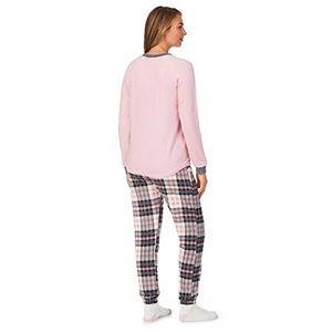 Women's Cuddl Duds® Microfleece Pajama Top, Pajama Pants & Socks Set