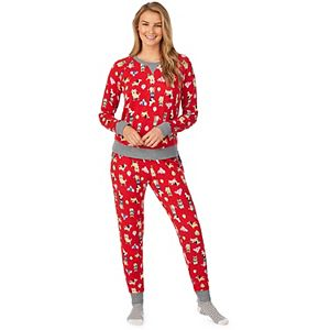 Women's Cuddl Duds® Long Sleeve Pajama Top, Pajama Pants & Socks Set