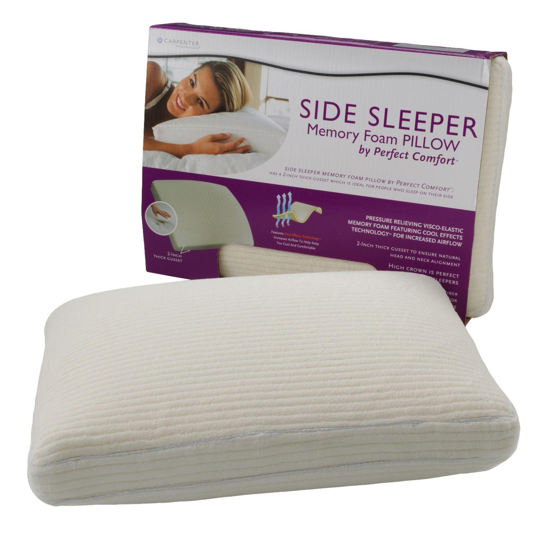 Perfect Comfort Memory Foam Side Sleeper Pillow Kohls