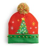 Men's Ugly Christmas Beanie with Pom & Bells