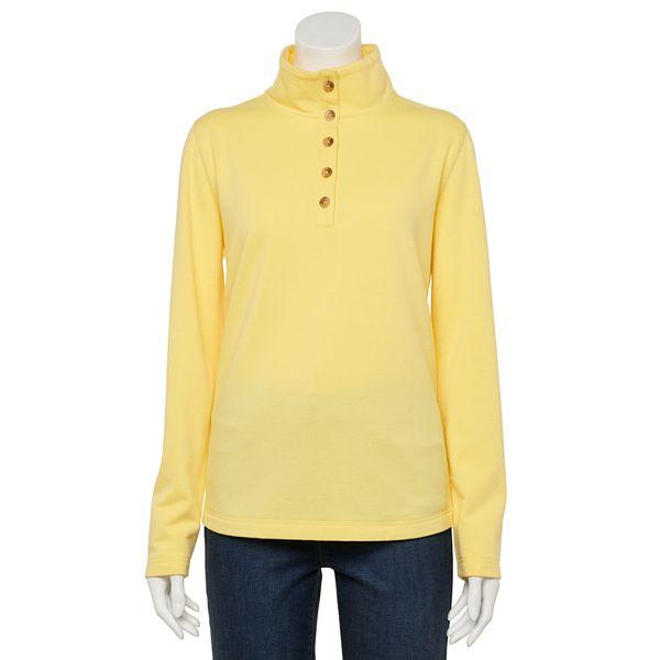 Women's Croft & Barrow® Button-Neck Fleece ... Sweatshirt