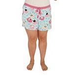 Plus Size Nite Nite by Munki Munki Print Pajama Shorts