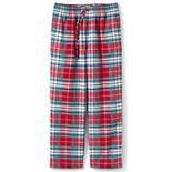 Men's Lands' End Plaid Sherpa-Lined Flannel Pajama Pants