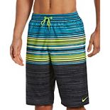 Big & Tall Nike Swim Oxidized Striped Breaker 11-inch Volley Shorts