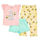 Toddler Girl Cuddl Duds® Bumble Bee Pajama Set