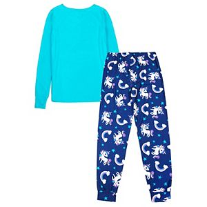 Girls 4-14 Jellifish Top & Bottoms Pajama Set