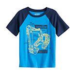 Boys 4-12 Jumping Beans® Excavator Raglan Graphic Tee