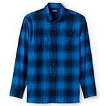 Men's Lands' End Traditional-Fit Comfort-First Lightweight Plaid Flannel Button-Down Shirt