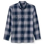 Men's Lands' End Traditional-Fit Comfort-First Lightweight Plaid Flannel Button-Down Shirt