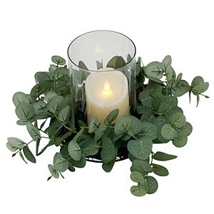 Elements Artificial Plant Candle Holder Table Decor