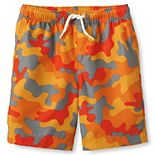 Boys 2-20 Lands' End Printed Swim Trunks