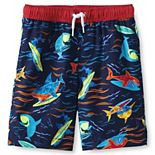 Boys 7-20 Lands' End Printed Swim Trunks