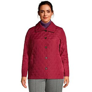 Petite Plus Size Lands' End Packable Insulated Quilted Barn Jacket