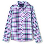 Girls 7-16 Lands' End Plaid Flannel Shirt in Regular & Plus Size
