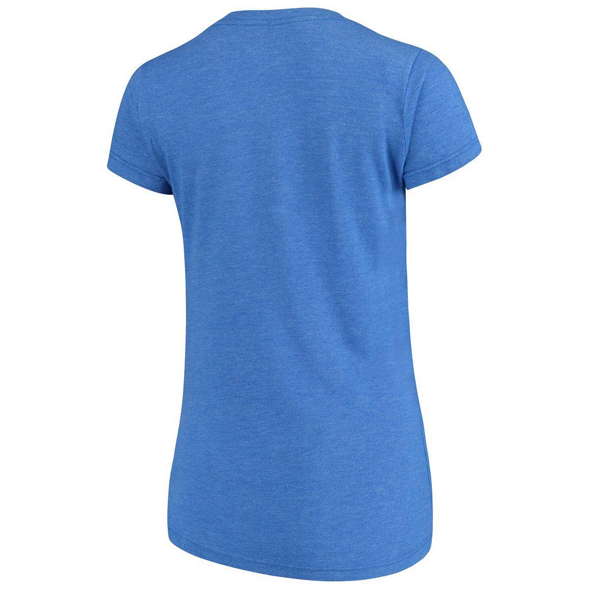 Women's Majestic Threads Royal Philadelphia 76ers Primary Icon V-Neck Tri-Blend T-Shirt qg3ER