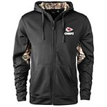 Men's Black/Realtree Camo Kansas City Chiefs Decoy Tech Fleece Full-Zip Jacket